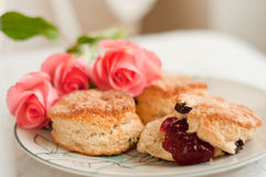 English scones with jam Stock Image