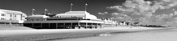 English Seaside B/W Panoramic Royalty Free Stock Images