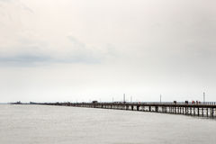 English seaside pier southend. The longest pleasure pier in the world Stock Images