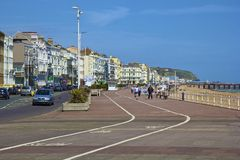 English seaside promenade Royalty Free Stock Photography