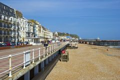 English seaside promenade Royalty Free Stock Image