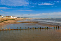 English Seaside Resort Low Tide Stock Photography