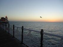 English Seaside in Twilight Royalty Free Stock Photos