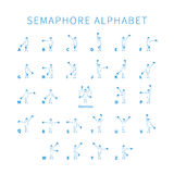 English semaphore alphabet Stock Image