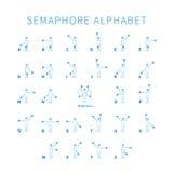 English semaphore alphabet Stock Image