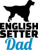 English Setter dad silhouette Royalty Free Stock Photos