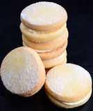 English Shortbread. With cream on a black background Royalty Free Stock Images