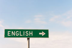English Sign Stock Photo