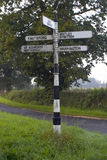English Signpost Stock Photo