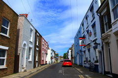 English small town street view. Street view from Deal town Kent England Stock Photo