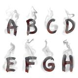 English  smoking alphabet Royalty Free Stock Images