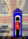 English Soldier On Royal Guard Duty stock illustration