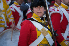 English soldier woman Royalty Free Stock Images