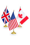 English speaking countries flags isolated Stock Photo