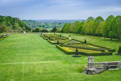Peaceful Rural Countryside View from Cliveden House stock photos