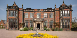 English stately home. An English stately home, front aspect Stock Image