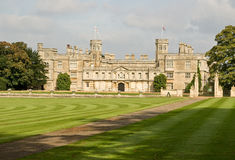 English stately home. The magnificent Castle Ashby in Northamptonshire, England royalty free stock photography