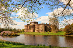 English Stately Home. STOCKPORT, ENGLAND -  MAY 14, 2016: Lyme Hall historic English Stately Home and park in Cheshire, England Stock Photo