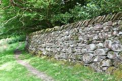 English Stone Wall Royalty Free Stock Photography