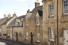 English street with houses royalty free stock photo