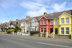 English street of terraced house Stock Photo