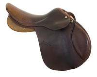 English style horse saddle royalty free stock photography