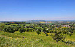 An English Summer Landscape in the Cotswolds Royalty Free Stock Photos