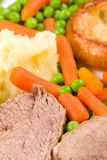 English Sunday lunch Royalty Free Stock Photo