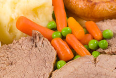 English Sunday lunch Stock Image