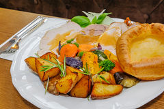 English Sunday Roast royalty free stock photo