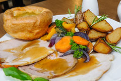 English Sunday Roast Royalty Free Stock Photos