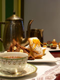 English tea with bakery muffin Royalty Free Stock Photography
