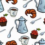 English tea ceremony vector Royalty Free Stock Photos