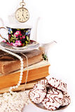 English tea party. Still ife with traditional elements english tea party Stock Images