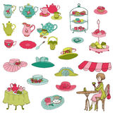 English Tea Party Set Stock Photography