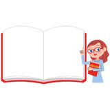 English teacher and white notebook for women vector illustration