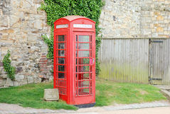 English telephone booth Stock Images