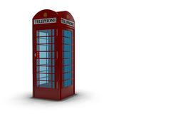 English Telephone Box Royalty Free Stock Photos