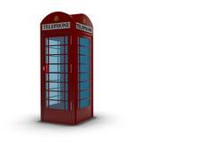 English Telephone Box. Against a white background Royalty Free Stock Photos