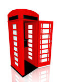 English telephone box. The English red telephone box Royalty Free Stock Photo