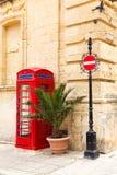 English telephone box on a summer Royalty Free Stock Image