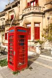English telephone box on a summer Royalty Free Stock Photos