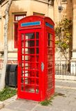 English telephone box on a summer Royalty Free Stock Photos