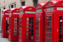 English telephone boxes Stock Photos