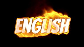 English. text on fire. word in fire. high turbulence. Text in flames. Fire word. English. text on fire. word in fire.high turbulence. Text in flames. Fire word stock footage