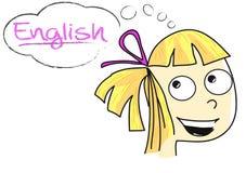 English thinking girl Stock Photo