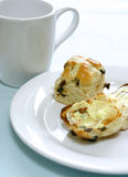 English toasted hot cross bun Stock Images