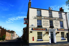 English town brewer. Shepherd Neame is an English independent regional brewery founded in 1698 in Faversham, Kent. It is the oldest brewer in Great Britain and Stock Photos