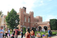 Old English town in countries pavilion at Epcot royalty free stock images