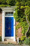 English Town House with Virginia Creeper Stock Photos